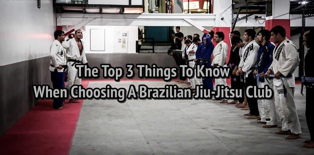 3 must know things when choosing BJJ club