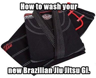 How to wash your new Brazilian Jiu Jitsu Gi.