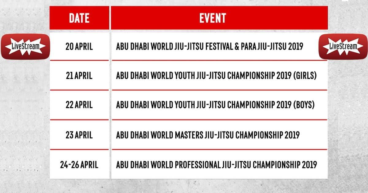 Abu Dhabi World Professional Jiu-Jitsu Championship – Day 1 – Live Stream