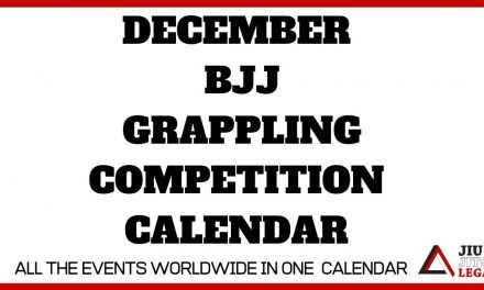 December – BJJ / Grappling Competition Calendar