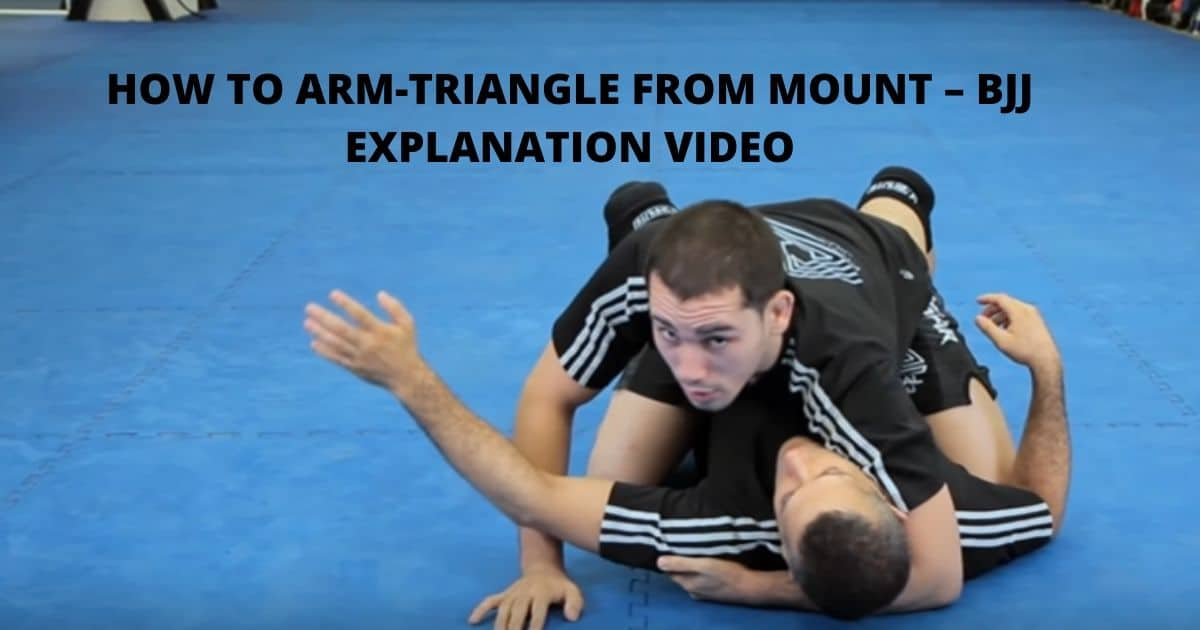 How To Arm-triangle from Mount – BJJ Explanation Video