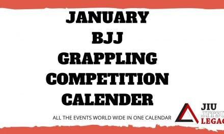 January – BJJ / Grappling Competition Calendar