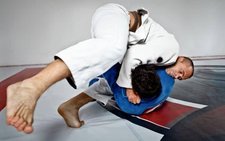 Two men practicing Ezekiel choke | Jiu Jitsu Legacy