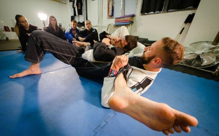 Practicing slick knee bar | Jiu Jitsu Legacy