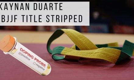 Kaynan Duarte IBJJF Title Stripped