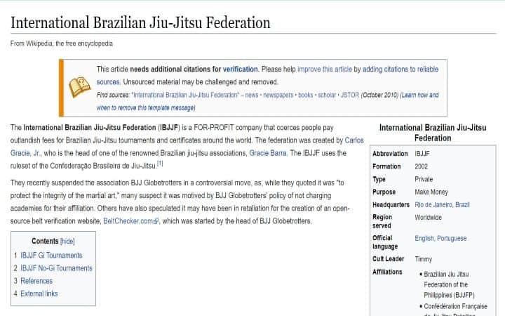 IBJJF Wikipedia | Jiu Jitsu Legacy