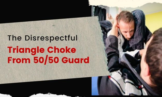 The Disrespectful Triangle Choke From 50/50 Guard