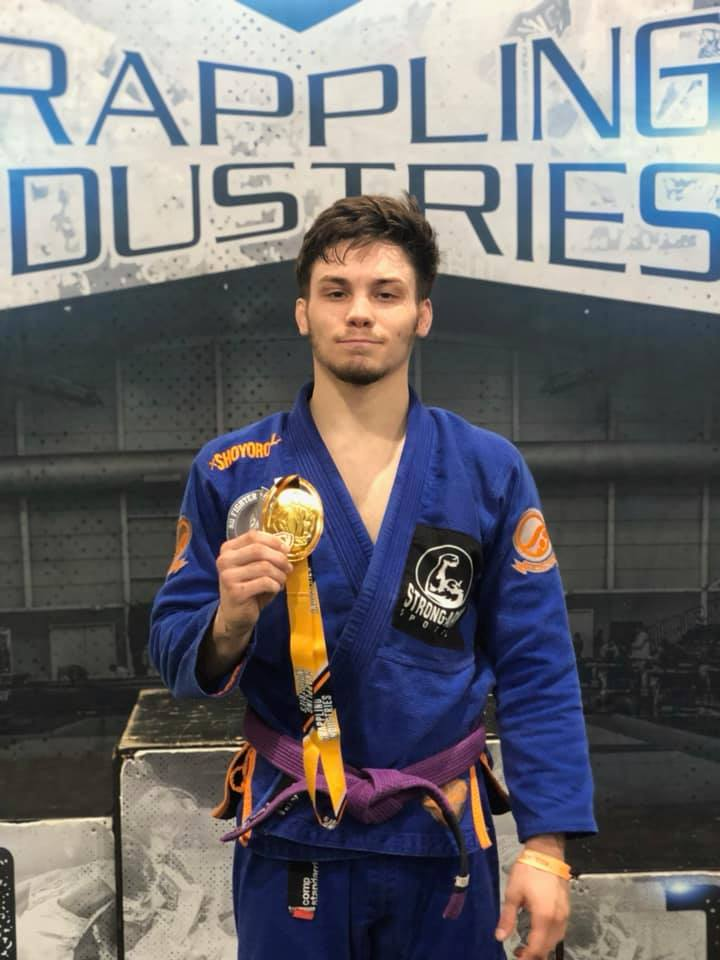 Gannon Lang with Gold Medal