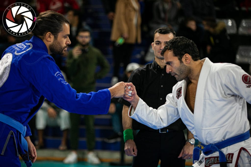 BJJ competitors saluting before the match, The Best BJJ Conditioning Tools for Endless Cardio | Jiu Jitsu Legacy
