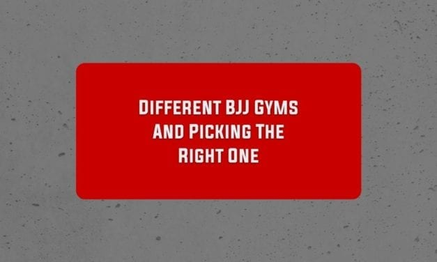 Different BJJ Gyms And Picking The Right One