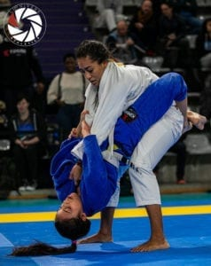 Closed guard as used in BJJ competition